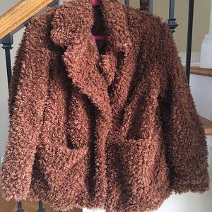 Fabulous Brown H&M Faux Fur Coat NWOT/Never Worn